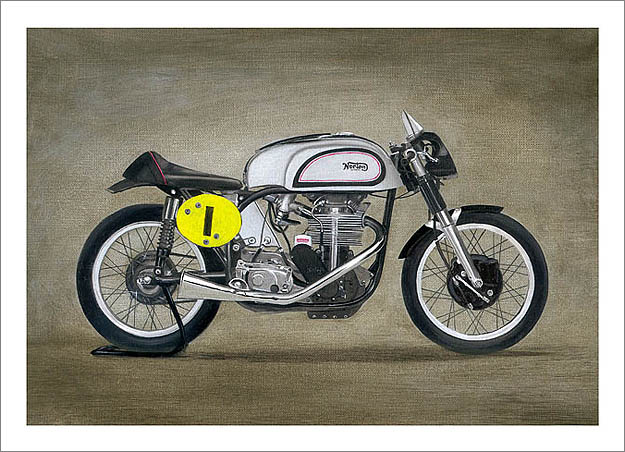 Manx Norton painting by Steve Dunn