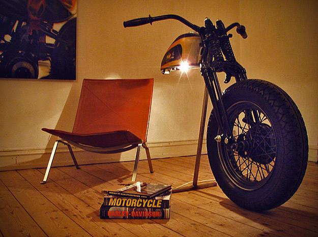 Cay Broendum's Harley lamp