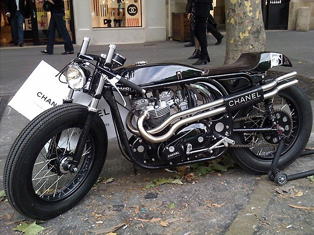 Triton motorcycle for Chanel