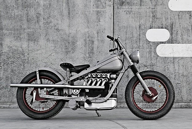 1952 Nimbus Type C bobber custom motorcycle
