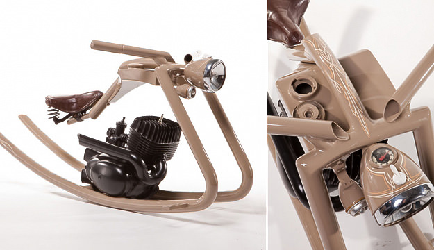 Motorcycle rocking horse by Felix Götze