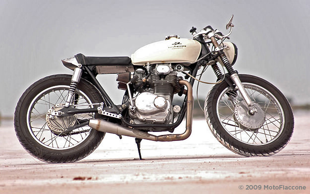 1969 Honda CL350 cafe racer customized by MotoFiaccone
