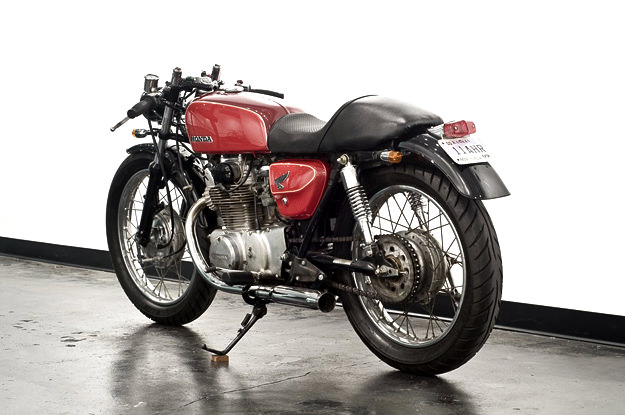Honda CL350 custom motorcycle