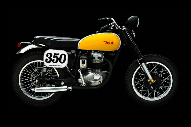 BSA B40 street tracker custom motorcycle