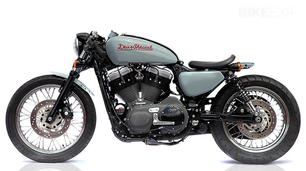 Deus 1200 V-Twin cafe racer Harley-Davidson custom motorcycle