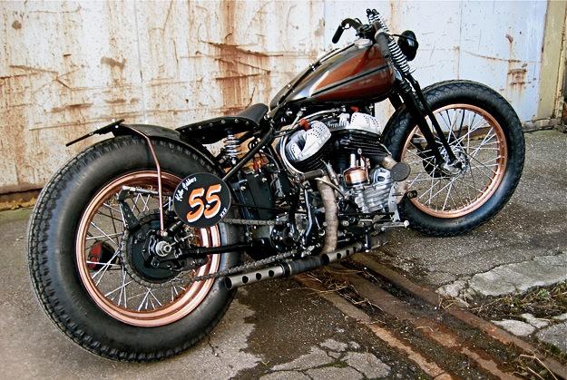 Custom Harley Wlc Bobber Hot Rod Motorcycle