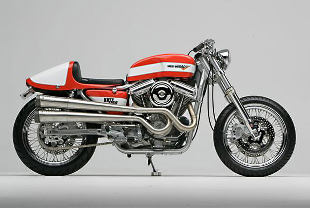 Bill Nigro's Harley XRTT cafe racer motorcycle