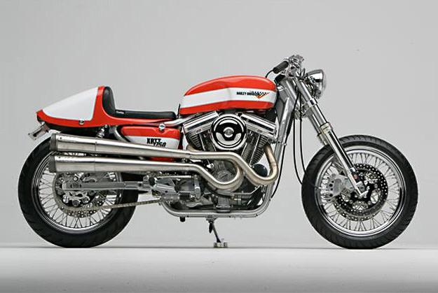 Bill Nigro's Harley XRTT cafe racer motorcycle