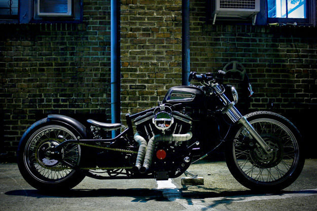 Harley-Davidson Sportster 883R custom motorcycle by Lucien Frelin
