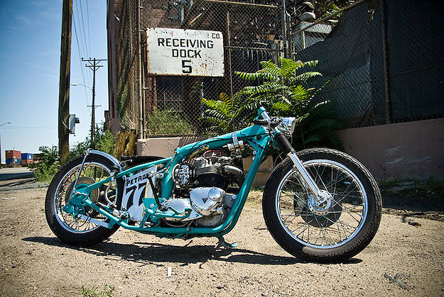 Jano Cycles Petrol 77 triumph custom motorcycle