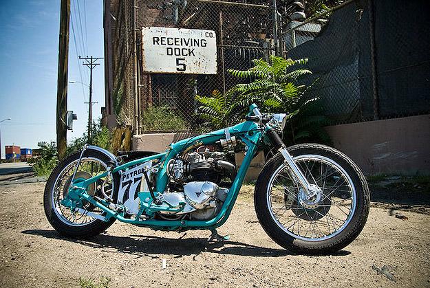 Triumph custom motorcycle