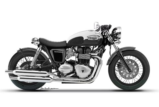 Triumph Bonneville concept by Dan Anderson Design