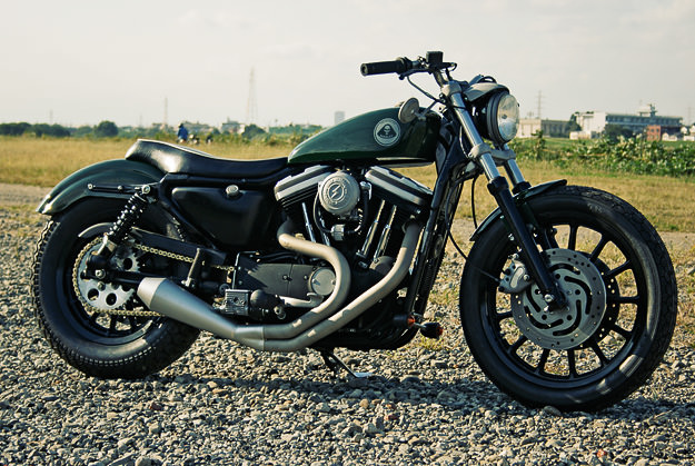Harley Sportster custom motorcycle by HIDE of Japan