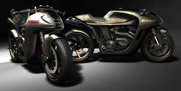 Metalback motorcycle concept by Jordan Meadows Design