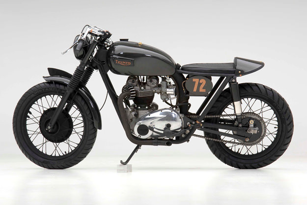 Triumph Bonneville custom by Underground Bobbers