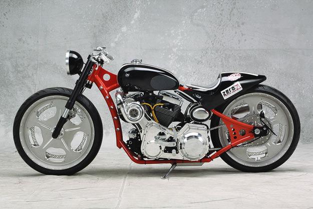Harley racer: Leroy-Thompson Salt Flat Racer