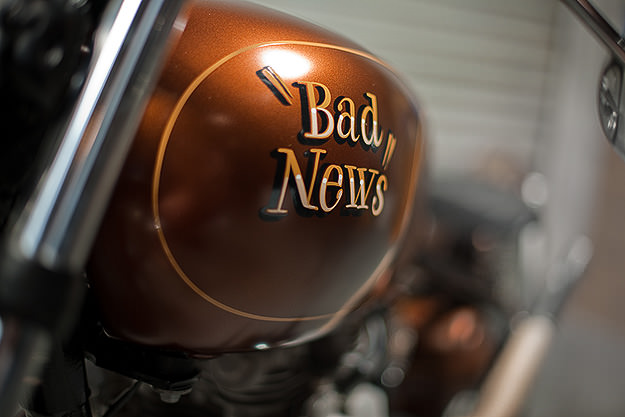 """Custom 1969 Triumph Trophy TR6R """"Bad News"""""""