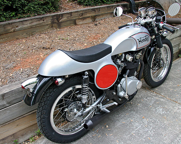 Honda CB450 'Manx tribute' cafe racer motorcycle