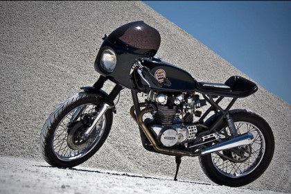 Honda CB450 cafe racer by Dime City Cycles