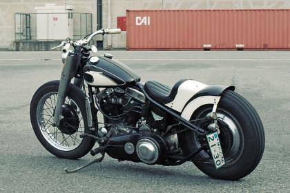 1957 Harley panhead custom by Ace Motorcycles of Japan