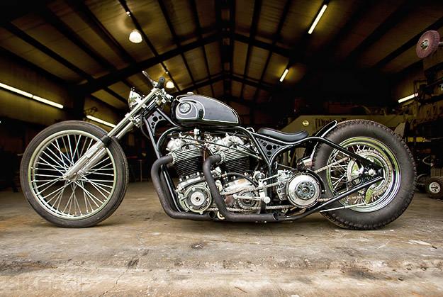 Custom Norton motorcycle