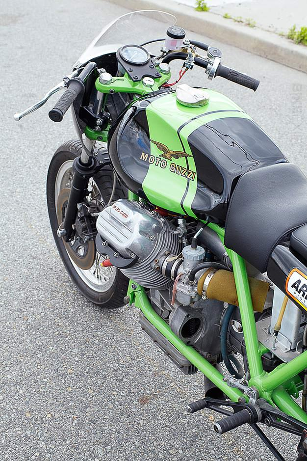 Moto Guzzi racing motorcycle