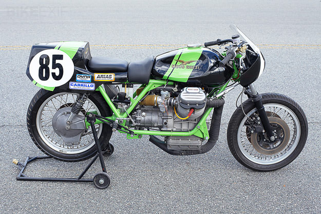 Moto Guzzi racing motorcycle