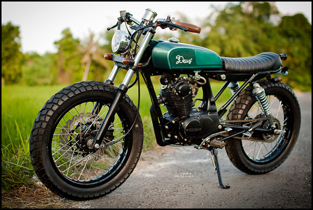 Honda CB100 custom motorcycle from Deus Bali