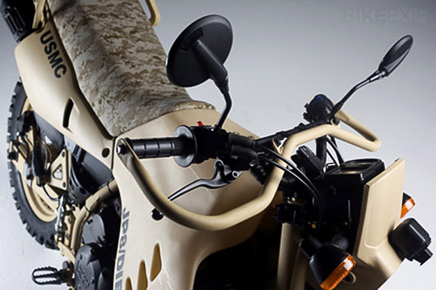 Military motorcycle: the HDT M1030-M2 LE 670