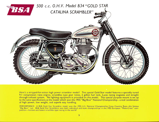 BSA Gold Star brochure