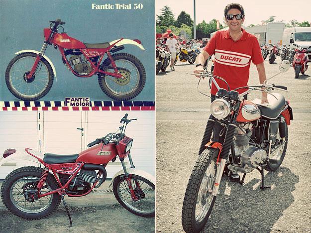 Diego Sgorbati: Fantic Motor Trial 50 and Ducati Scrambler