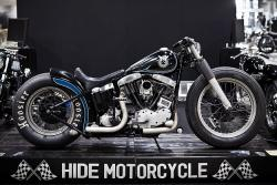 Hide Night Sky Bobber shovelhead