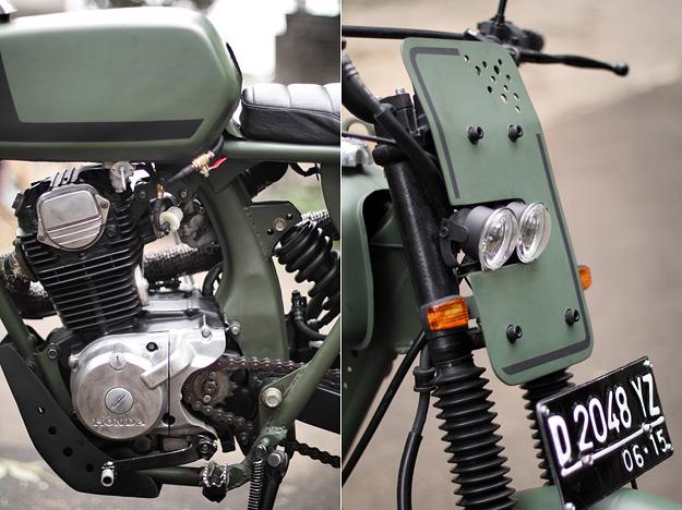 Bodywork: custom made fenders and battery box, Honda Benly gas tank