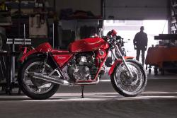 Moto Guzzi motorcycle with supercharger