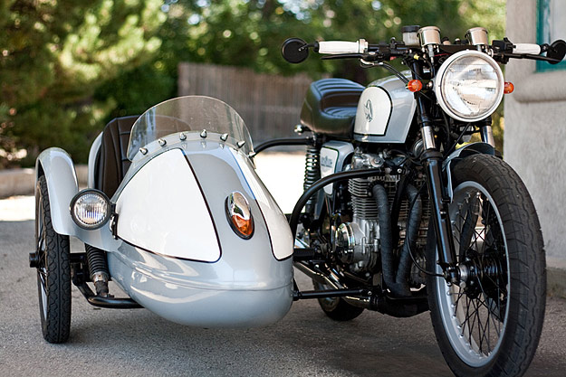 Motorcycle sidecar: Honda CB550 by Analog