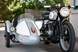 Honda CB550 and sidecar