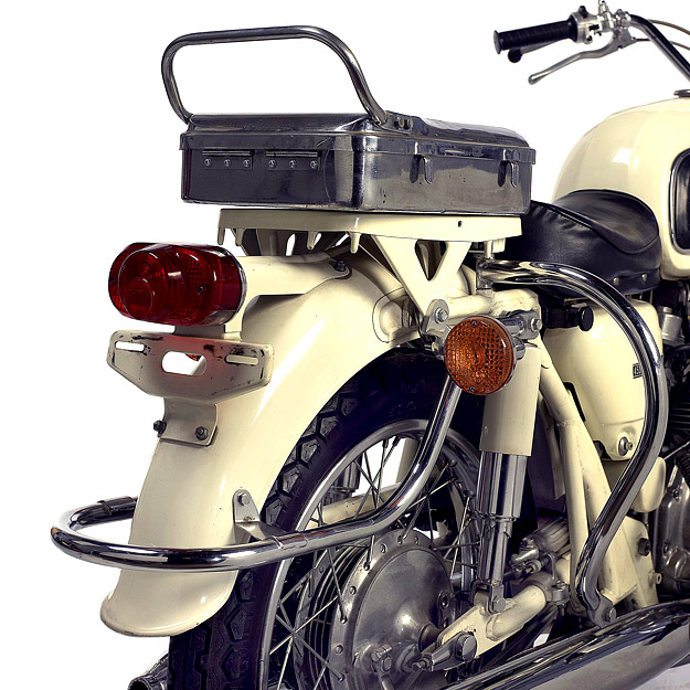 Police motorcycle: the rare 1965 Honda 450.