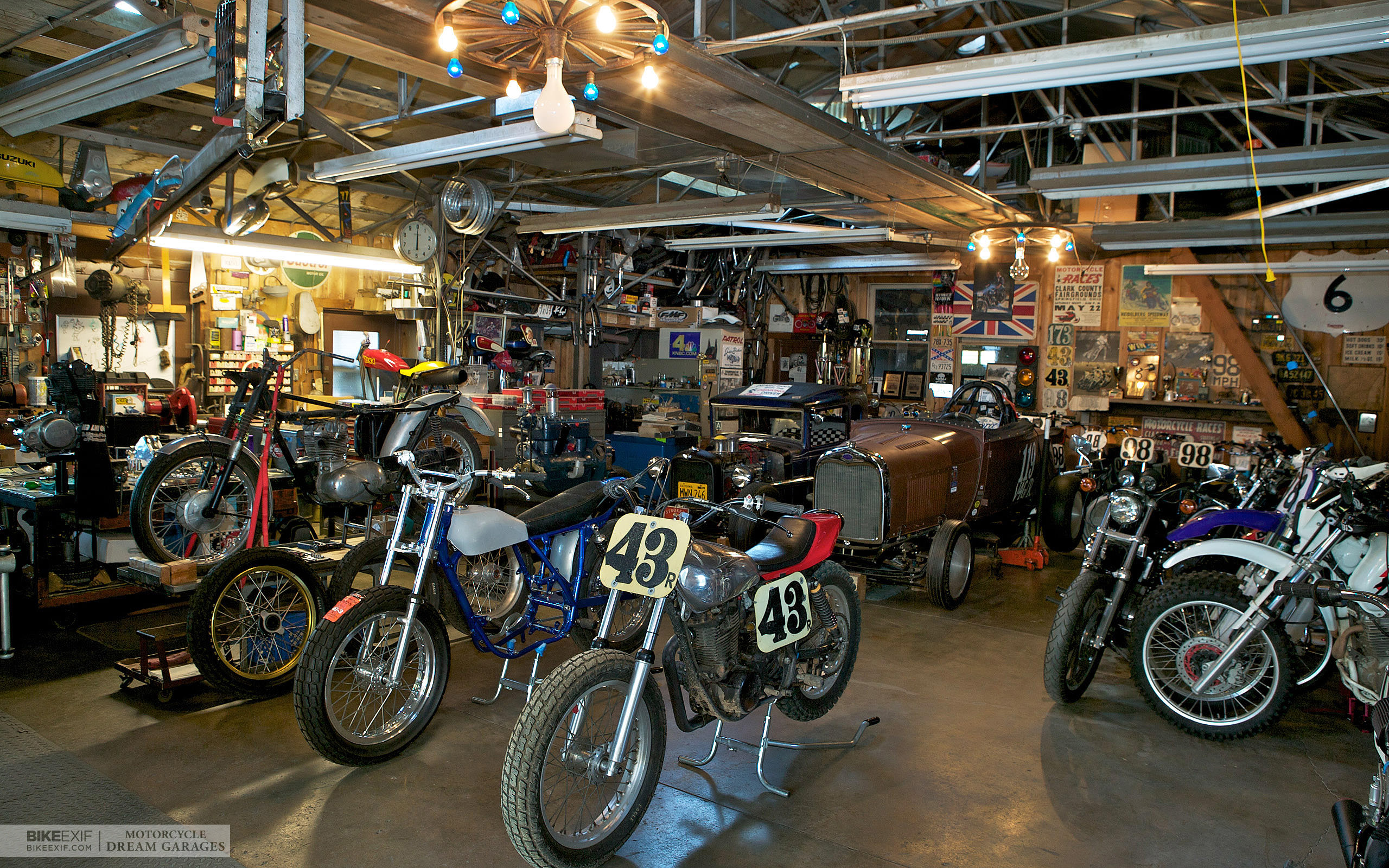Motorcycle dream garages bike exif for American classics garage