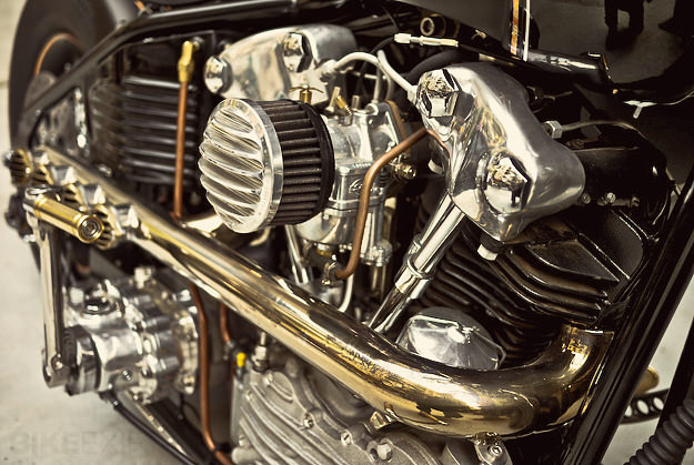 Harley knucklehead custom by Rough Crafts