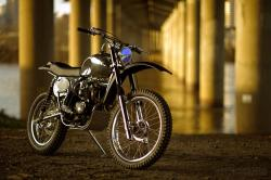 Vintage dirt bike by Atom Bomb