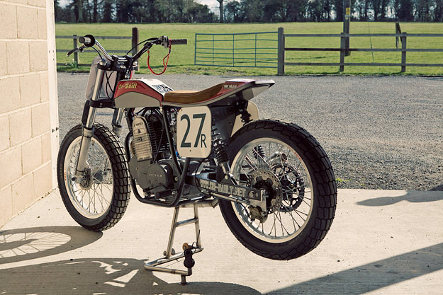 Flat track motorcycle