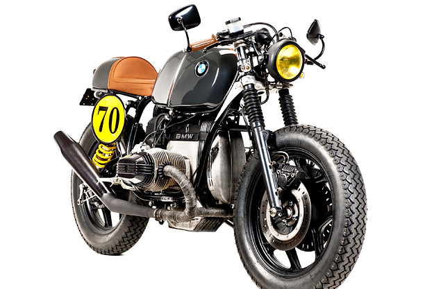 Custom BMW R80 police bike from Portugal's Ton-Up Garage