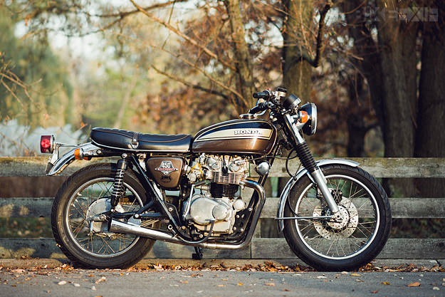 Honda CB450 custom motorcycle