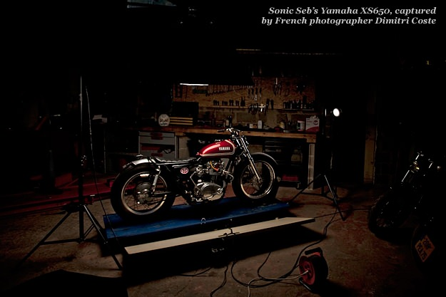 Sonic Seb's Yamaha XS650, captured by French photographer Dimitri Coste