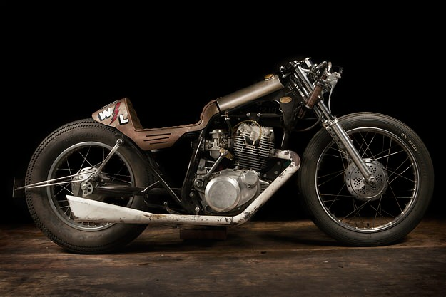 Yamaha SR250 custom motorcycle by El Solitario