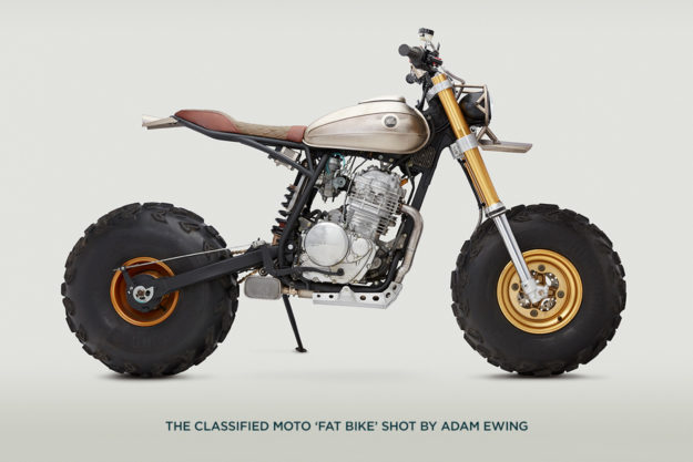 The Classified Moto 'Fat Bike,' photographed by Adam Ewing.