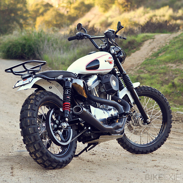 Scrambler motorcycle by Burly Brand