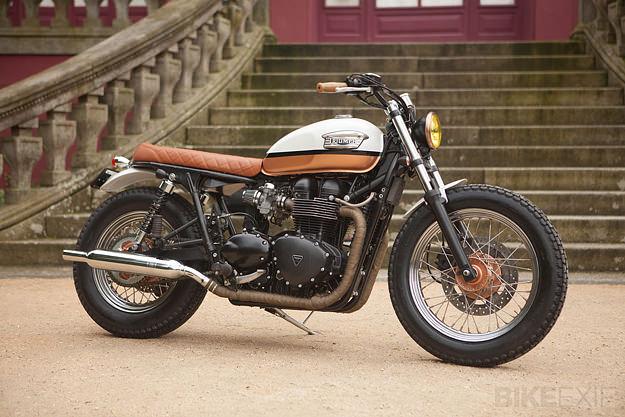 Motorcycle Modification Triumph Bonneville T100 Brat Style