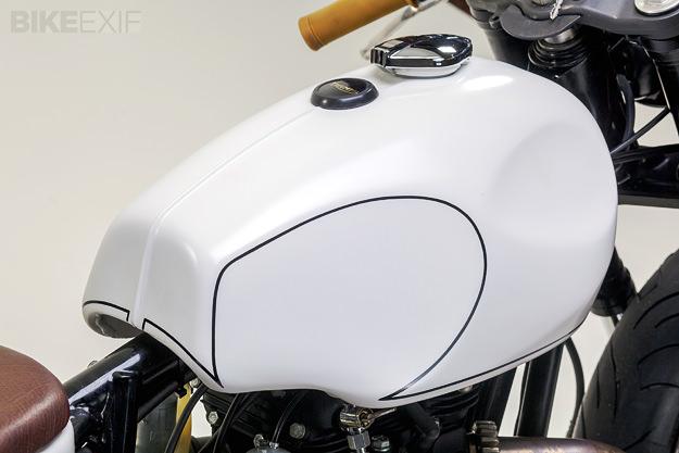 Triumph T140 custom motorcycle