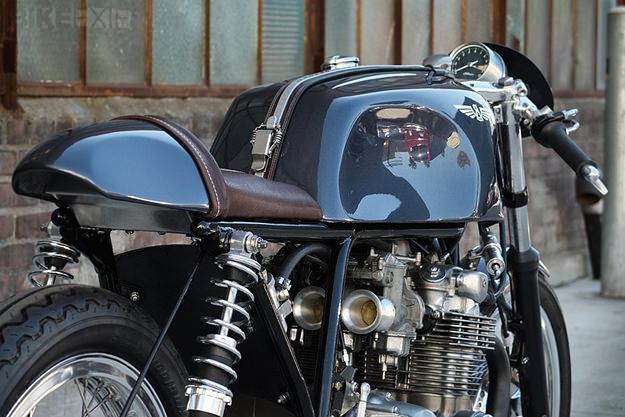 Honda CB550 custom motorcycle